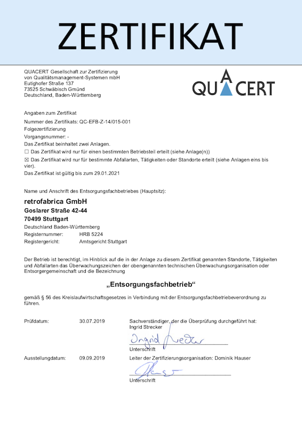 2020 Efb Zertifikat retrofabrica GmbH